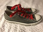 CONVERSE ALL STAR LOW SNEAKERS TEXTILE RUBBER 5J794 SIZE 9 US GRAY GREEN