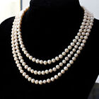 BEAUTIFUL!64 INCH 8-9MM WHITE AKOYA PEARL NECKLACE PN1197
