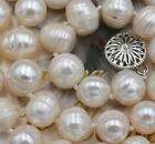 """22"""" 10-11MM SOUTH SEA WHITE Thread CREAM PEARL NECKLACE VERY GOOD LUSTER PN1190"""