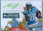 MELVIN GORDON 2017 PANINI NATIONAL CONVENTION PRIVATE SIGNINGS AUTOGRAPH SP 5