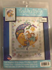 Tobin Baby MOON  BUNNY BABY BIRTH ANNOUNCEMENT Cross Stitch Kit personalizeable