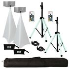 American Audio CSL-100 Color LED Speaker Stands + Scrims + Carry Case Pack