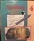 A Beka Book Spelling Vocabulary Poetry 4 Teachers Edition