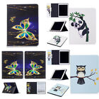 For Apple iPad Series Art Color Painting Design Magnetic PU Leather Case Cover P
