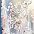 51 Beaded Wedding DIY Tulle Trim Floral Embroidery Bridal Dress Lace Fabric 1 Y