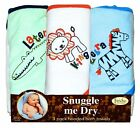 Wild Animal Hooded Bath Towel Set, 3 Pack, Frenchie Mini Couture