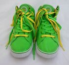 Pastry Womens Size 8 1 2 Hi Top Green Yellow Sneakers Shoes Dance Hip Hop