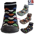 Infant Baby Boys Cars Automobiles Anti slip Rubber First Walking Sock Shoes