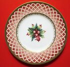 FITZ & FLOYD WINTER HOLIDAY ROSE WREATH SALAD PLATE 9