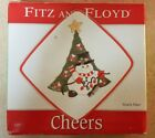 Fitz and Floyd Christmas Cheers Snowman Snack Plate Holiday Festive Fun Preowned