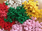NEW Lego light Pink Red Yellow white Flowers plant Stems LOT 234 piece