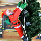 US Climbing Santa with Rope Ladder Outdoor Christmas Yard Decoration 157 inch