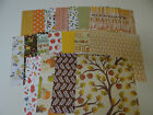 FALL THANKSGIVING SCRAPBOOK PAPER 6X6 CARDS LEAVES APPLES AUTUMN