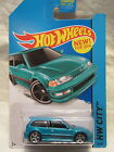 2014 Hot Wheels CUSTOM 1990 HONDA CIVIC EF Teal Blue HW City 30 Real Riders