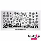 A014 Holiday Snowfall Stamping Plate For Christmas Stamped Nail Art Design