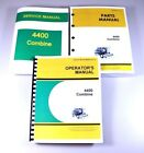 SERVICE OPERATORS PARTS MANUAL SET JOHN DEERE 4400 COMBINE REPAIR SHOP BOOK OVHL