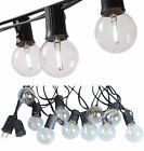 LED Outdoor String Lights 18ft,12 Hanging Sockets Waterproof Vintage Patio for