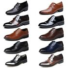 Mens Leather Shoes Wedding Dress Pointed Oxfords Casual Formal Size 6 12