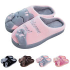 Women Winter Home Slippers Cartoon Cat Home Non slip Soft Couple Floor Shoes BE
