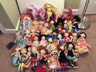 Large Groovy Girls Lot 28 Dolls, 3 small dolls, 3 horses, bed, and sleeping bag
