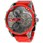 DIESEL DZ7370 MR. DADDY 2.0 Gunmetal Dial Red Silicone Strap Men's Watch