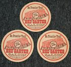 vintage 1970s CEDAR POINT RED GARTER SALOON Coasters Frontier Trail 25 Coke