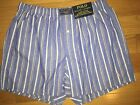 MENS POLO RALPH LAUREN BLUE STRIPE Woven BOXERS UNDERWEAR NWT XL Pink Pony