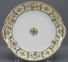 Nippon Morimura Hand Painted Gold Floral & Moriage Beaded Cake Plate 1911 - 21