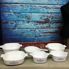 Lot Of 6 Corning Ware Blue Cornflower Dishes - Casserole, Sauce Maker, etc.