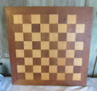 Old Wood Wooden Inlaid Checkers Chess Game Board GAMEBOARD Walnut