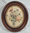 ANTIQUE WALNUT OVAL PICTURE FRAME W GLASS 8 x 10 IMAGE