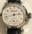 VINTAGE BREGUET WINDING POCKETWATCH MOVEMENT STAINLESS STEEL CASE