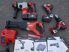 Milwaukee 18v lithium ion cordless tools with 4.0ah batterys and charger