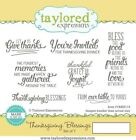 Taylored Expressions Cling Mounted Stamp Set Thanksgiving Blessings