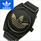 NWT ADIDAS ORIGINALS Unisex Santiago BLACK Watch Large GOLD Trefoil Logo ADH2705