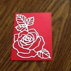 6 WHITE Rose Diecut PUNCHIES STAMPIN UP Cardstock