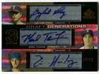 2004 SP Prospects GAYLORD PERRY Mark Teixeira ERIC HURLEY RC Triple Auto # 25
