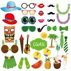 Photo booth props Hawaii luau summer beach pool party supplies Kit 36pcs
