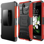 Holster & Kickstand Phone Shockproof Clip Rubber Case For LG Aristo Case