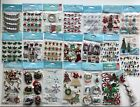 Lot Of 22 JOLEES BOUTIQUE Christmas Holiday Scrapbooking Craft Stickers NEW