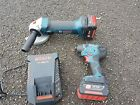 Bosch professional 18v lithium ion cordless angle grinder and impact driver