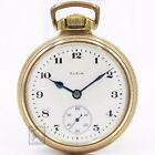 Gold 1921 Elgin 21 Jewel Father Time RAILROAD Grade Mechanical Pocket Watch 16s