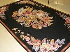 Needlepoint Rug - Hand Woven - 100% Wool - Floral Design - 5 x 8