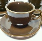 Homer Laughlin HLC Fiesta Ware Chocolate Brown Cups And Saucers