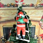 Santa Claus Climbing Stairs Christmas Tree Decoration Large Size With Stair HT