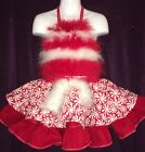 CUSTOM NATIONAL XMAS PEPPERMINT CANDy PAGEANT CASUAL WEAR 2T 4T