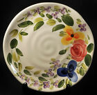 Set of 2 Tabletops Unlimited Mariam's Garden Hand Painted Floral Salad Plates