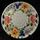 Set of 2 Tabletops Unlimited Mariam's Garden Hand Painted Floral Dinner Plates