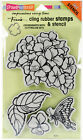 Stampendous Frans Cling Stamps 5X7 Hydrangea Garden Pk 1 Stampendous