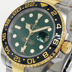 ROLEX GMT MASTER ll 116713 STEEL GOLD CERAMIC BEZEL GREEN DIAL